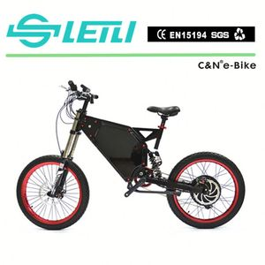Hot sale adult 19 inch 72v 8000w enduro adult ebike electric bike with Rock Shock front fork