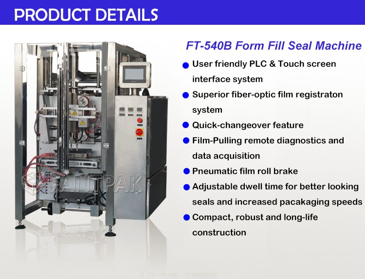 FT-540B Vertical Form Fill Seal Bagger