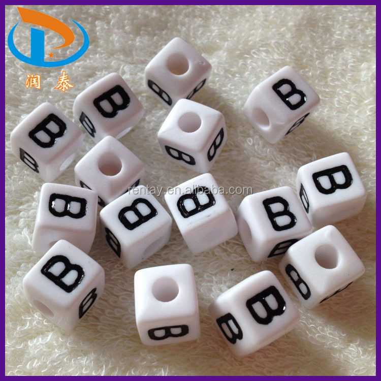 Beads & Jewelry Making Jewelry & Accessories Big Hole 6*6mm Cube Gold Acrylic Letter Beads 500pcs 2600pcs Plastic Alphabet Jewerly Big Hole Spacer Beads Loose Spacer Beads
