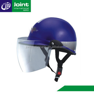 New PP Material Outer Shell Blue Motorcycle Scooter Half Face Helmet
