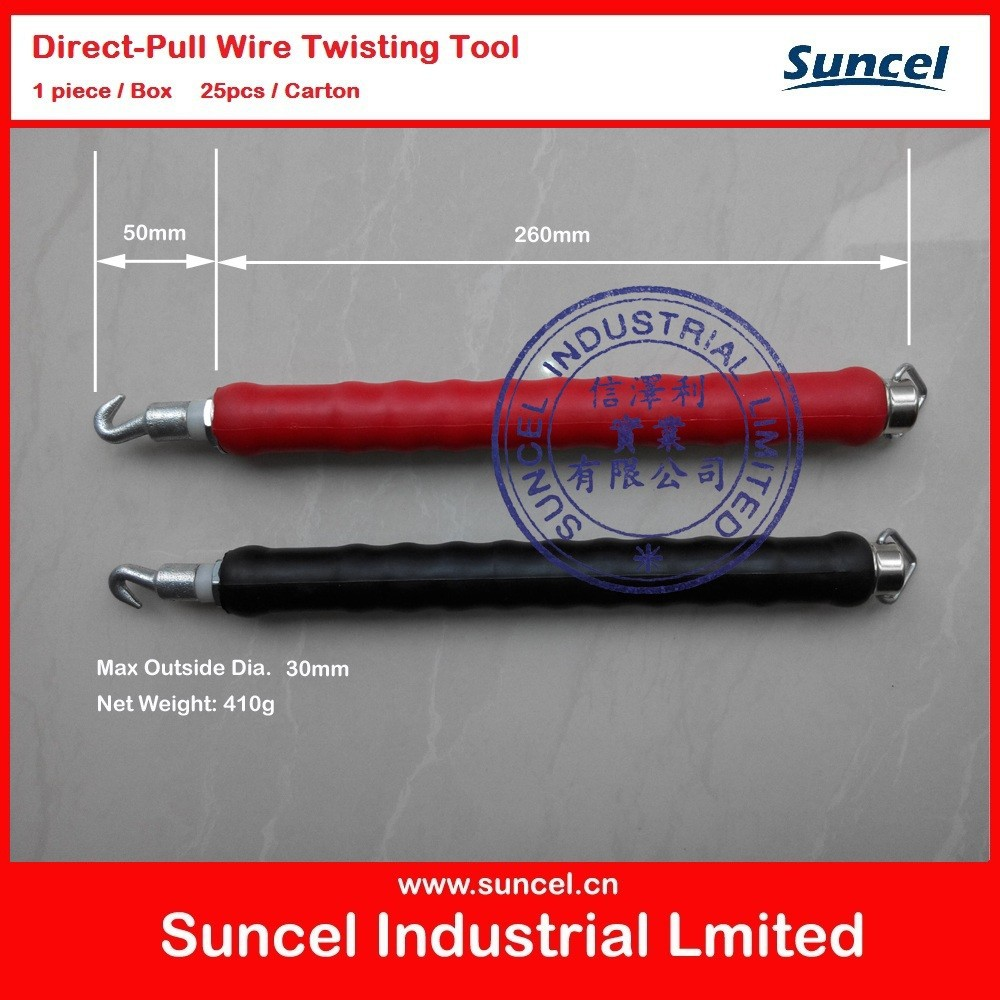 Red and Black Direct-pull Wire Twisting Tool
