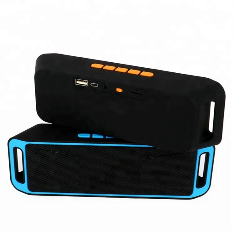 SC-208 USB blue tooth speaker Portable Outdoor Stereo Speaker Support TF Card FM Hands Free Call