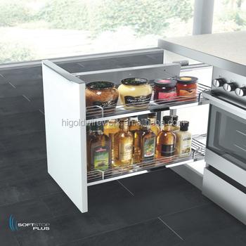 High Quality Kitchen Drawer Basket/base Unit Pull Out Basket