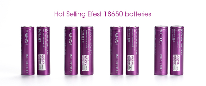 efest 18650 3000mAh 35A 3.7V Li-ion cell Rechargeable Battery from Original efest Battery Manufacturer for electronic cigarette
