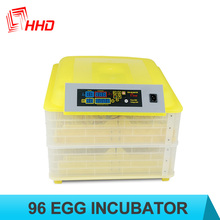 HHD CE approved 96 eggs automatic egg-turning chicken egg incubator prices YZ-96