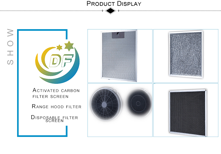 New plastic frame design durable range hoods filter