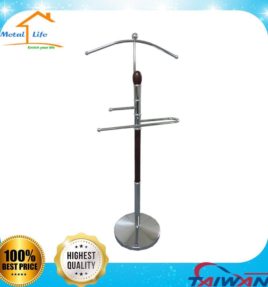 Hotel wood clothes suit valet stand