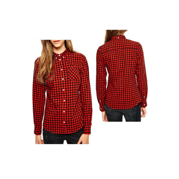 9b1535c171177c Women Black And White Check Shirt Girls Red Checked Shirt - Buy ...