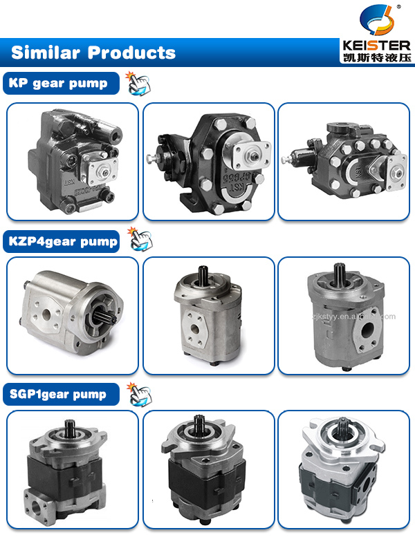 Professional excavator high pressure hydraulic gear pump