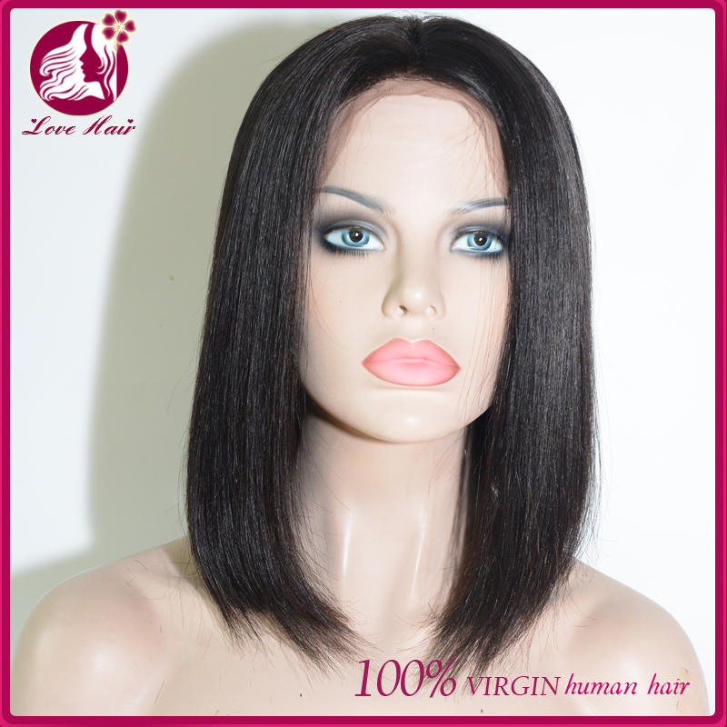 Large of stock brazilian hair unprocessed virgin hair <strong>human</strong> wet and wavy cheap lace front 12inch bob wig