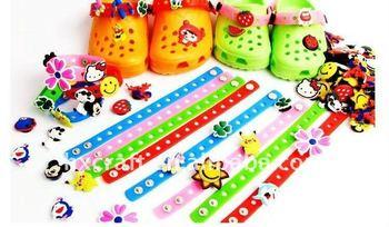 2017 Cute Silicone Charm Bracelet For Kids Diy Crocs