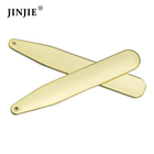 Wholesale fashion gold blank stainless steel collar stays for men