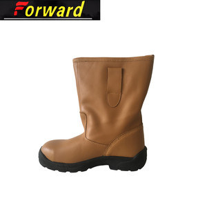 Genuine Leather Steel Toe Waterproof Mining Safety Rigger Boots
