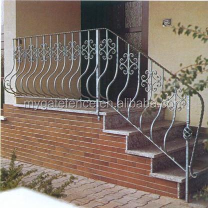 pasamanos de la escalera de hierro galvanizado parrilla de hierro para escaleras barandilla de