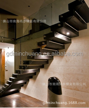 Indoor houten trappen staal hout trap buy product on - Buitenste trap ...