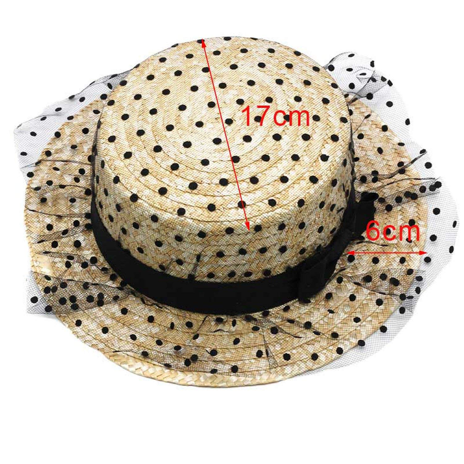 39389d8ab42a64 Get Quotations · Romantic moments Women's Beach Sun Hats Fashion Wide Lace  Mesh Dots Bow Straw 2018 Organdy Solid
