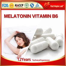 Private Label Natural Sleeping Pills Melatonin and Vitamin B6 Capsule