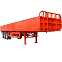 China ISO Manufactura Remolque Cargo Pared Lateral 3 ejes