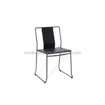 Wire dining chair backrest cafe chair black steel chair