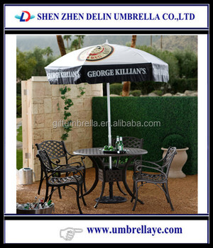 Patterned Umbrellas Round Table
