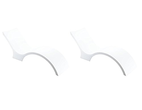 Ledge Lounger Chaise Deep (White): Set of 2