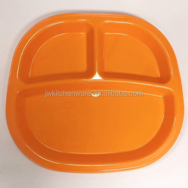 Plastic 3 Compartment Divided Kids Tray in Jiewei
