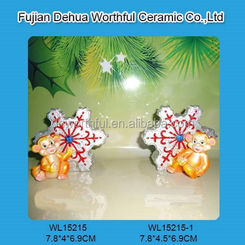 Colorful christmas decoration with snowflake design