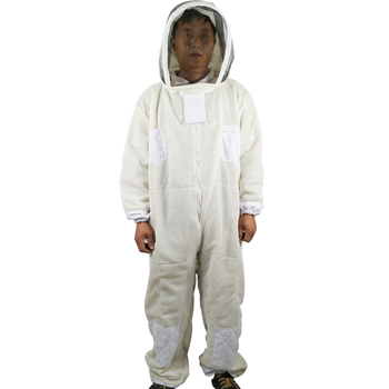 Beekeeping ventilated 3 layer mesh suit/bee protective clothing /Beekeeper overalls