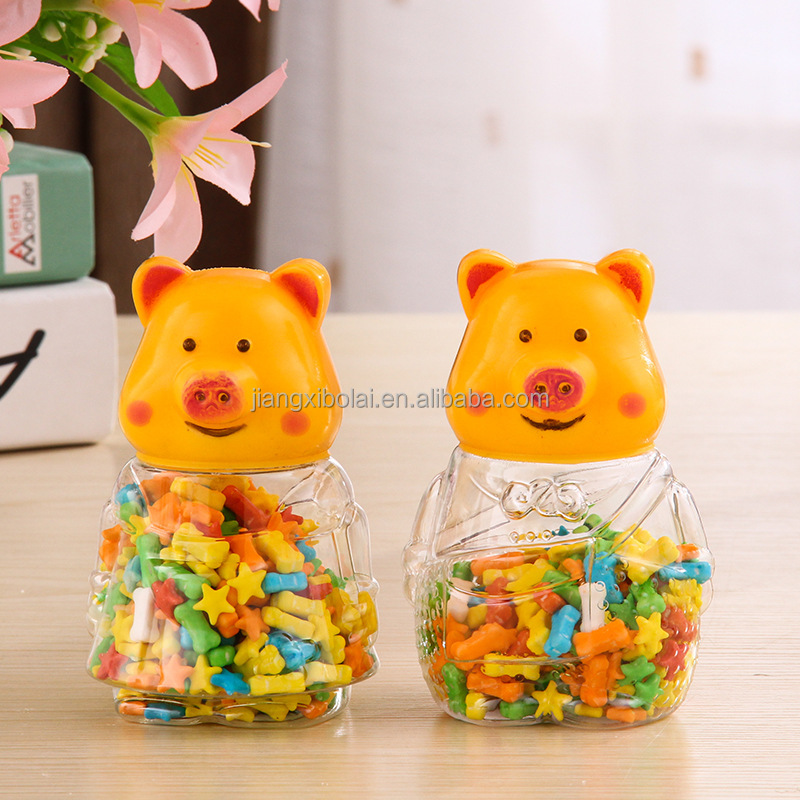 Plastic Food Container Candy Jar Sweets Dried Fruit Bottle