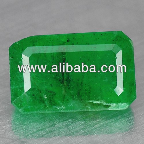 !! 4.84 Cts. 100%NATURAL EXCELLENT FOREST GREEN COLOR EMERALD CUT ZAMBIAN EMERALD !!