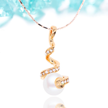 N010 Spiral Pearl Necklace For Women 18K Gold And Silver Plated Jewelry Necklace Fashion Accessories 2017 Latest Design