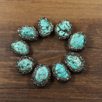 LS-D3125 Wholesale Natural turquoise handmade jewelry natural stones for jewelry making supplies