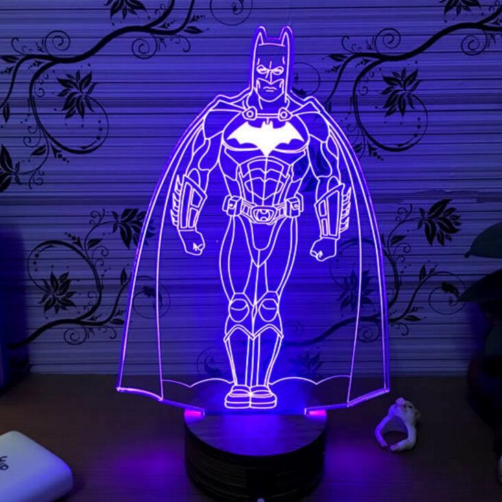 Batman Light Marvel Avengers 3d Night Light Superhero Lamp Usb + Wood Base  + 5 Color Changing Hot Sale   Buy High Quality Usb Uv Light,China Usb Light  ...