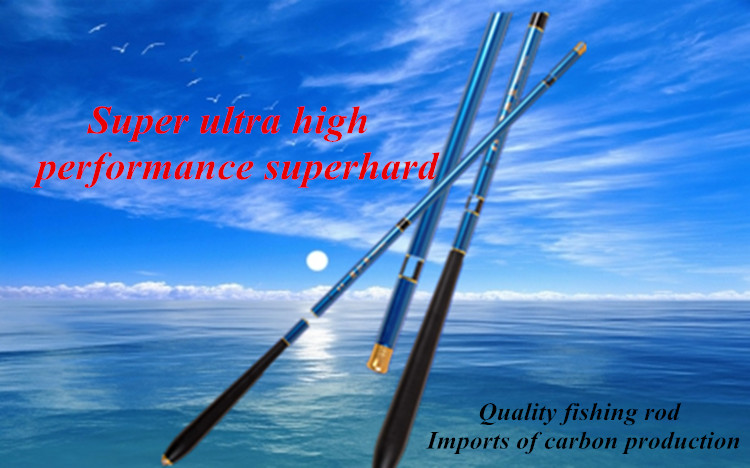Superhard 99% Carbon Stream Rods Summer Fishing Necessary Length 3.6M/4.5M/5.4M/6.3M