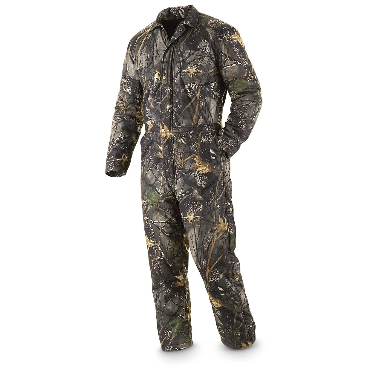 2380eddeff203 Get Quotations · World Famous Sports Insulated Waterproof Breathable  Coveralls Burley Camo