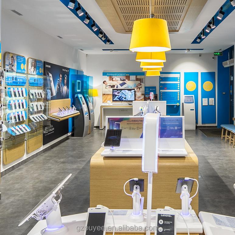mobiele telefoon showroom elektronische accessoires mobiele telefoon winkel interieur