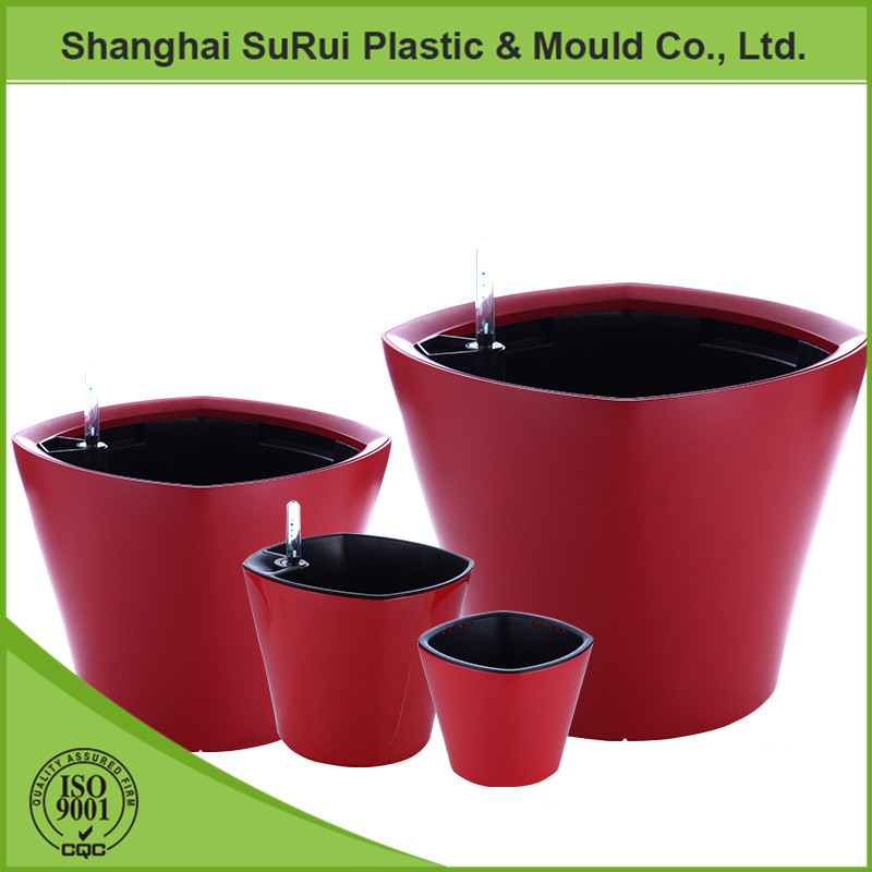 China economic plastic flower pots for office