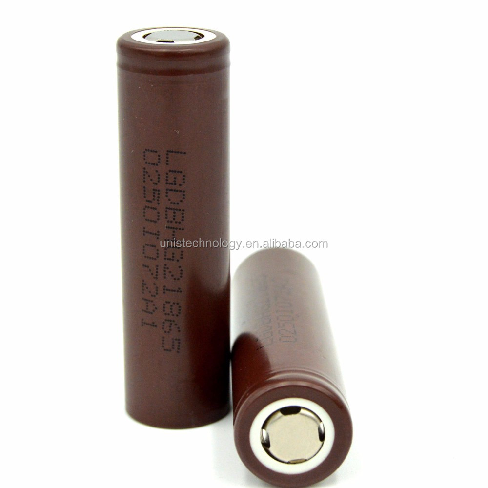 Genuines! ! lg hg2 18650 HG2 3000mAh 3.7V rechargeable battery cell color chocolate LG HG2 18650 battery cell use for E-Cig
