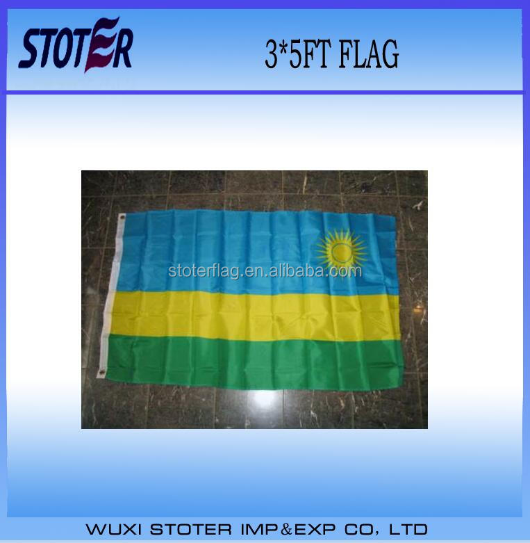 Whloesale flying different country flag Rwanda Country flag