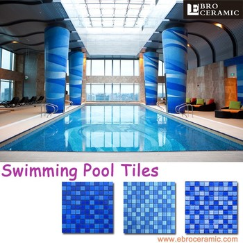 Ebro High Quality Hot Sale Blue Glass Mosaic Swimming Pool Tile Both  Outside And Inside Pool 23x23mm 48x48mm - Buy Glass Mosaic For Swimming  Pool ...