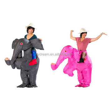 Christmas Fancy Dress Funny.Inflatable Elephant Costume Funny Mascot Costume Fancy Dress For Adult Christmas Halloween Costumes For Women Grey And Pink Buy Inflatable Elephant
