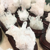 Wholesale Natural Angel Aura Quartz White Clear Crystal Clusters for home decoration