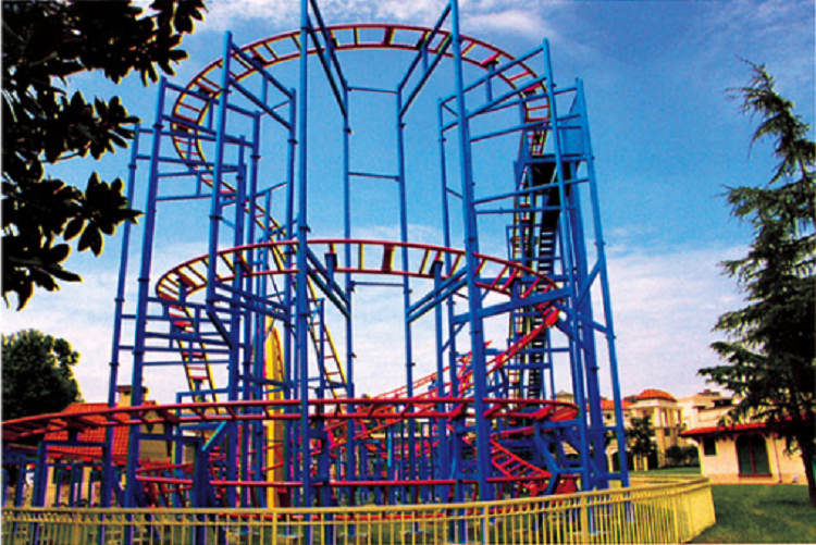 Overlapping Amusement Park Large Park Rides Equipment Roller Coaster Ride For Sale