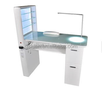 Factory Manufacturer Baking Finish Portable Manicure Table With Lamp