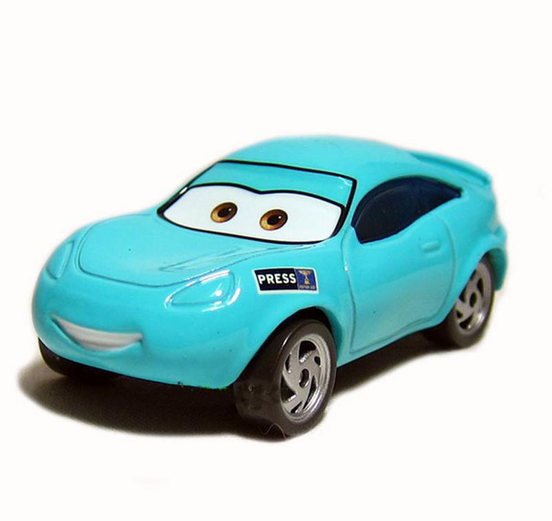 New Pixar Cars Kori Turbowitz Press Field Reporter 1:55 Metal Diecast Models Vehicles Kids Toys Car Toys For Children
