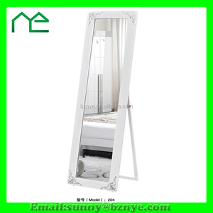 modern bedroom furniture standing wooden mirror made in China
