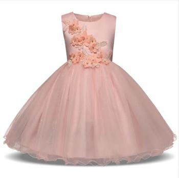 6fa62a534 Summer Brand Baby Baptism Dresses Girl Bebes 1 2 Years Birthday Dress  Flower Girls Party Wedding