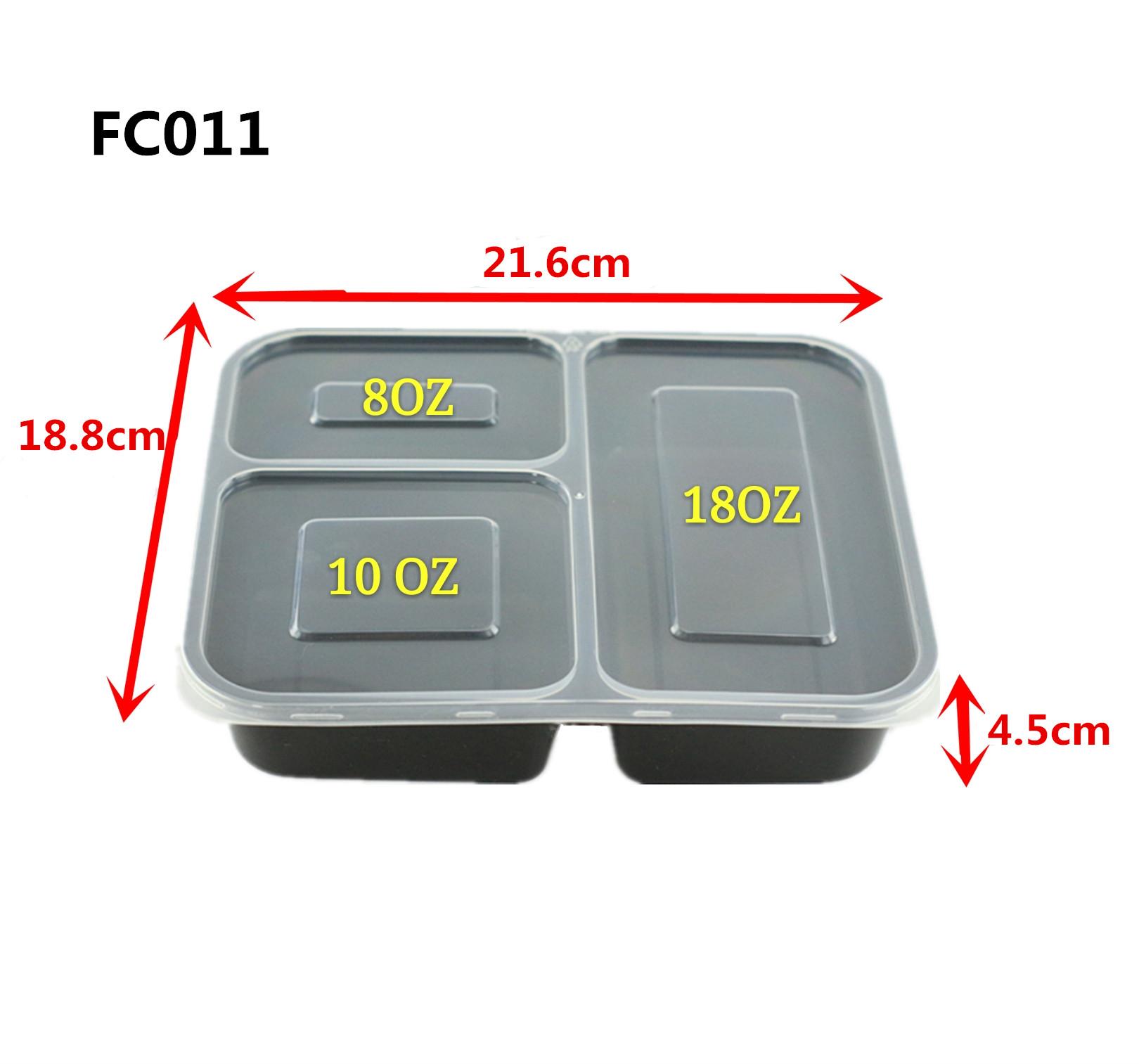 3 compartimientos con tapas paquete de 10 Contenedor para la preparaci/ón de comidas Contenedores para la preparaci/ón de comidas 10 unidades Contenedores para la preparaci/ón de comidas Almacenamien