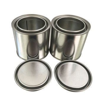 250ml 0.25L Round Metal and chemical/oil / Glue use Use tin can container with large snap opening