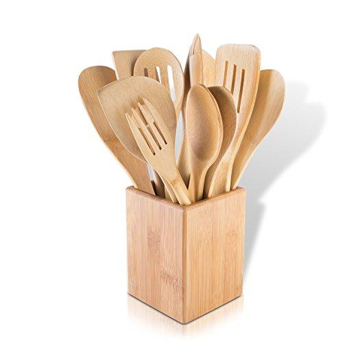 6 pieces kitchen wooden bamboo utensil set 3